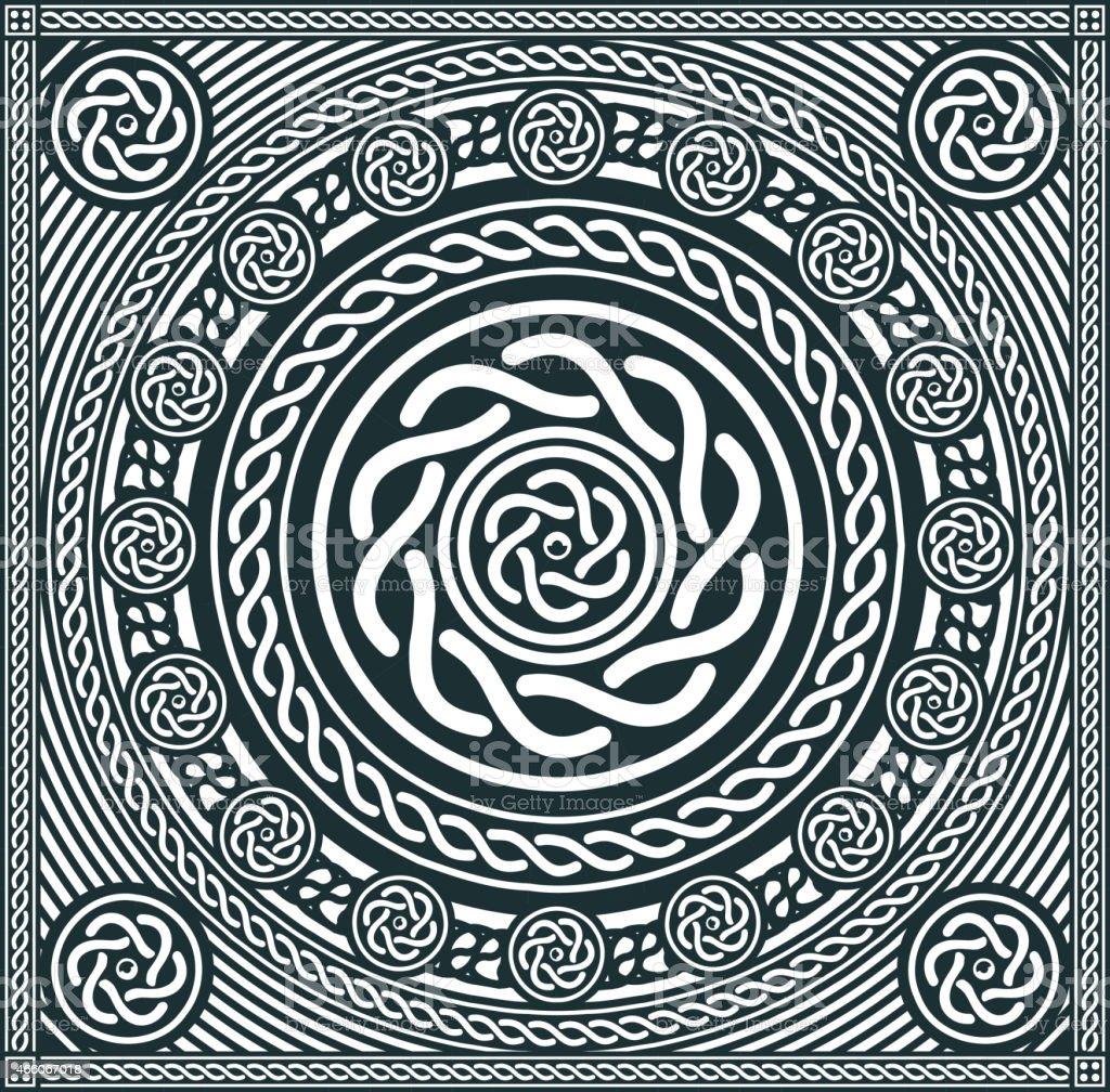Abstract Mandala Background vector art illustration