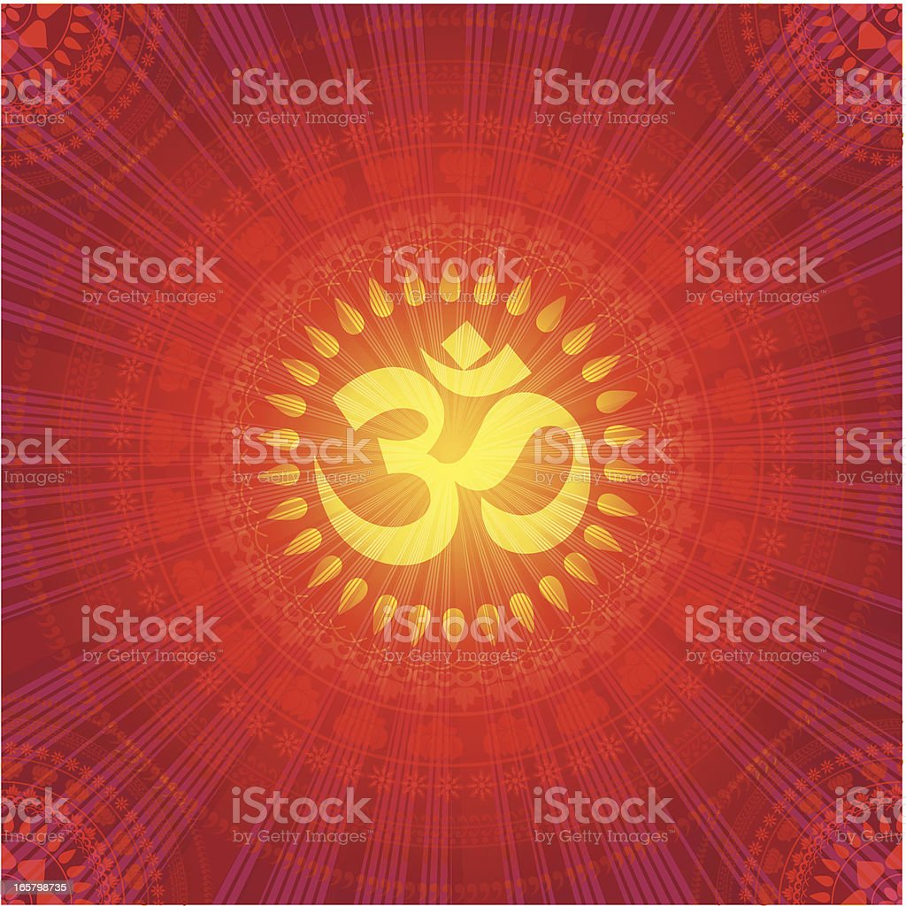 Abstract Mandala Design royalty-free stock vector art