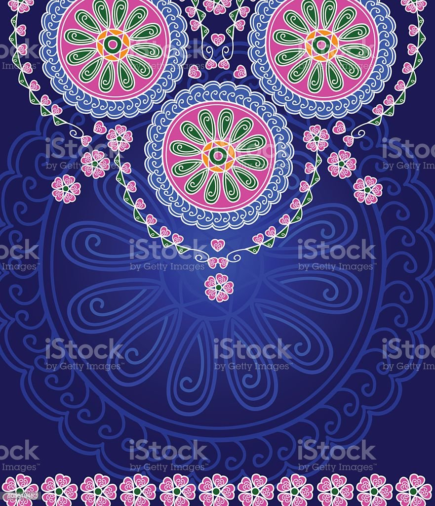 Abstract Mandala Design vector art illustration