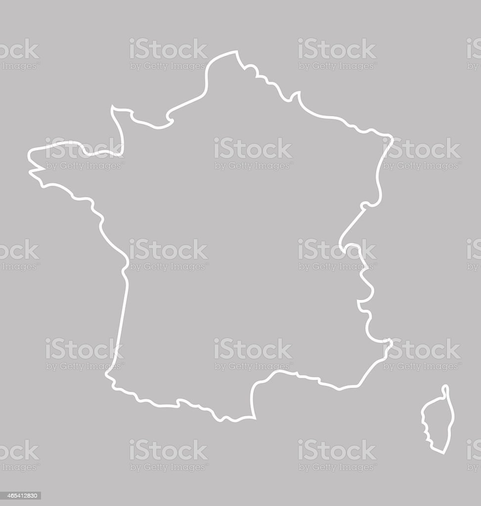 abstract map of France vector art illustration