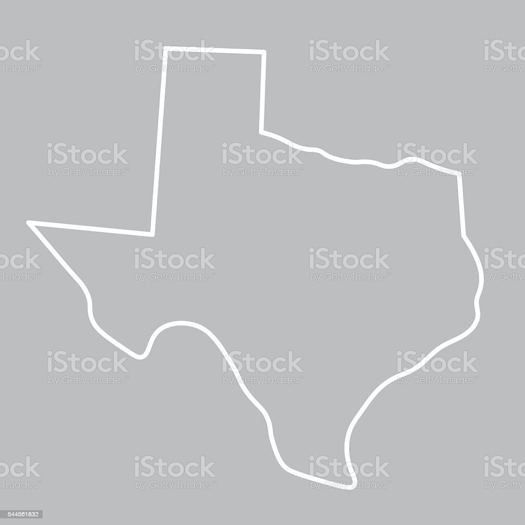 abstract map of Texas vector art illustration