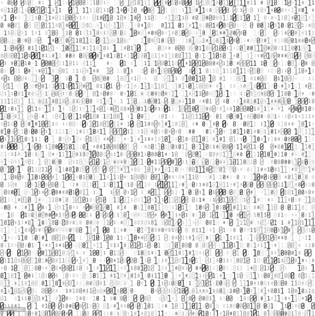 Abstract Matrix Background. Binary Computer Code. Coding and Hacker concept. Vector Illustration. vector art illustration