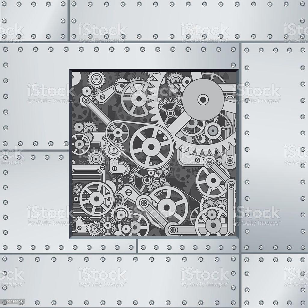 Abstract Mechanism Backdrop vector art illustration