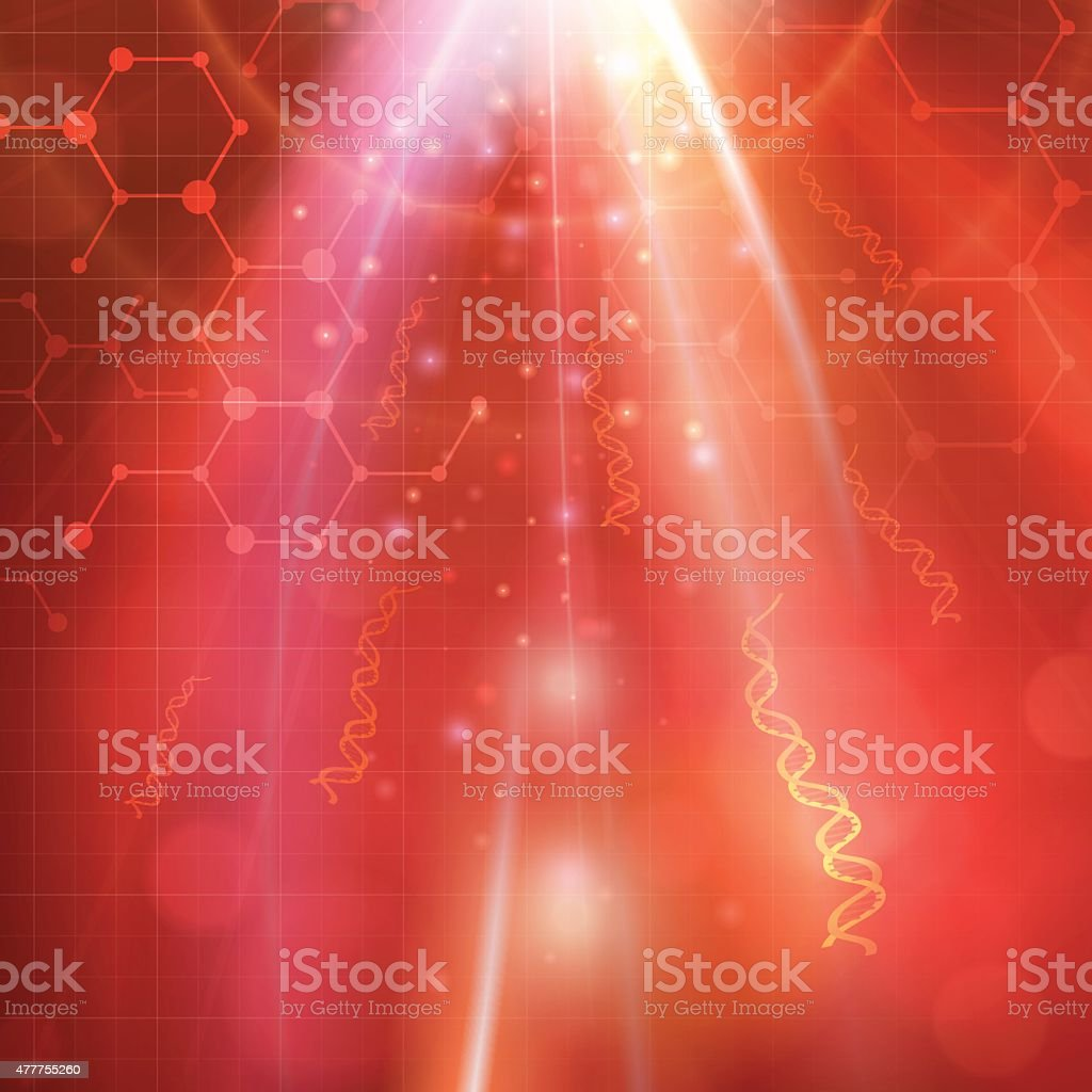 Abstract medical DNA biotechnology vector background vector art illustration