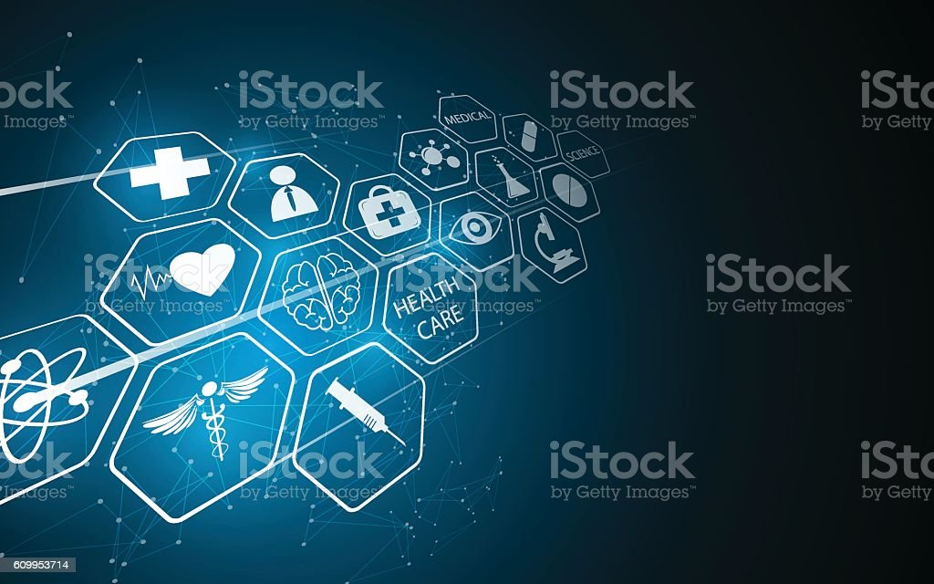 abstract medical pharmacy health care innovative concept background vector art illustration