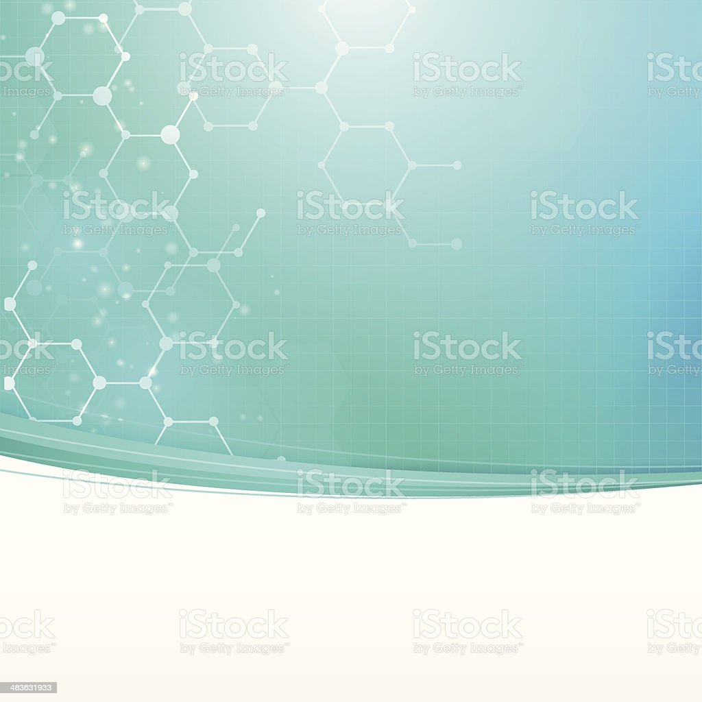 Abstract medical technology background vector art illustration