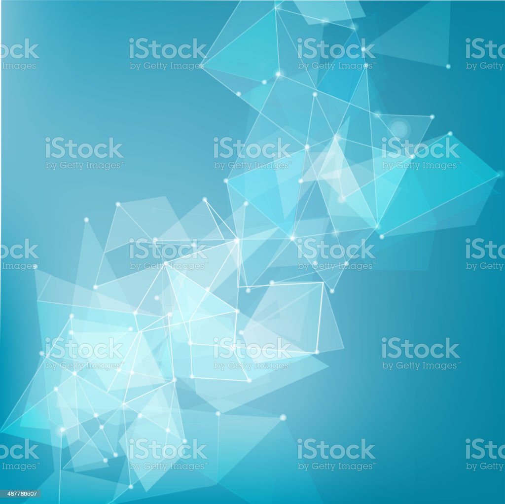 abstract mesh network background for technology, business concept, vector illustration vector art illustration