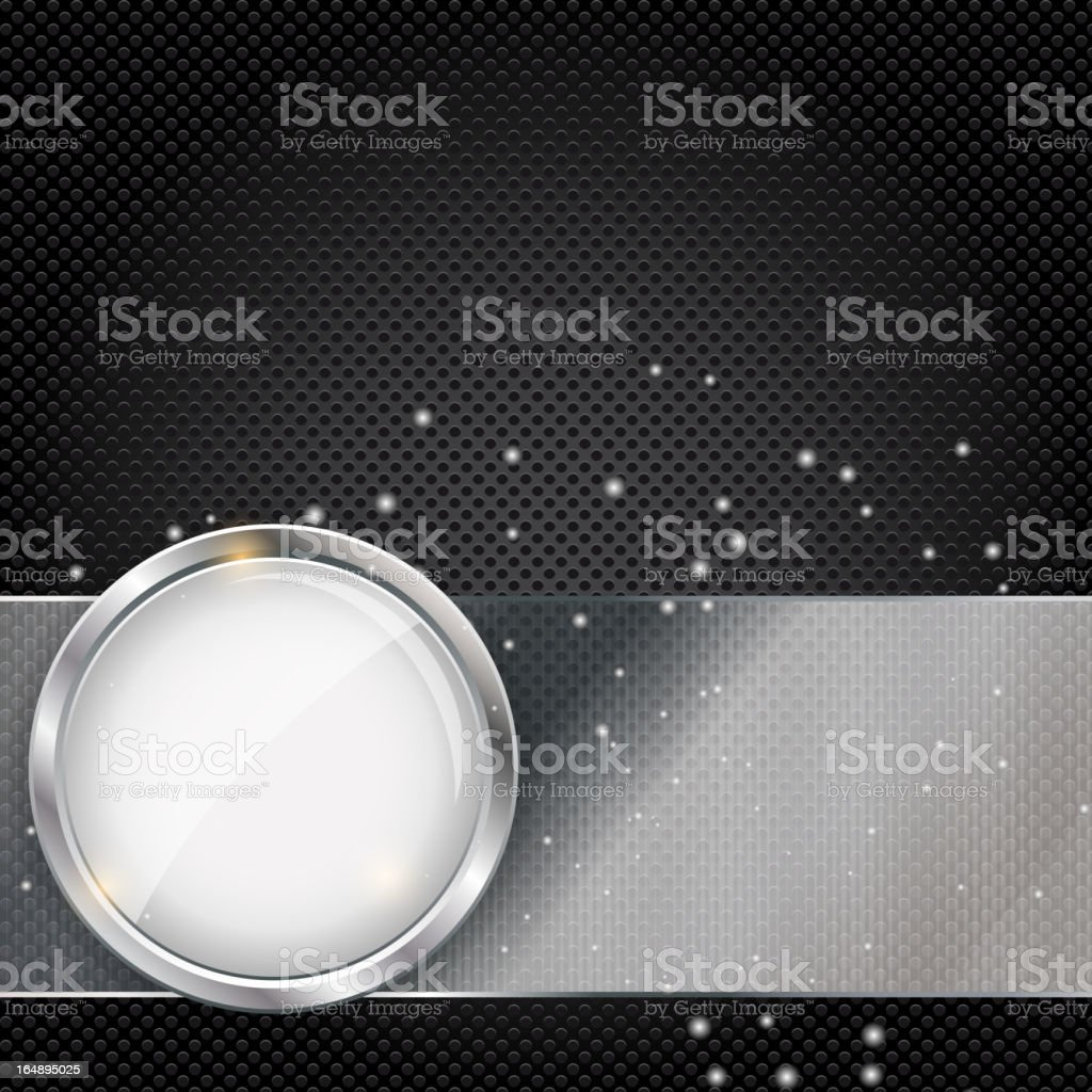 Abstract metal and glass background with frame royalty-free stock vector art