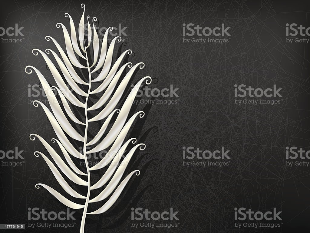abstract Metal feather royalty-free stock vector art