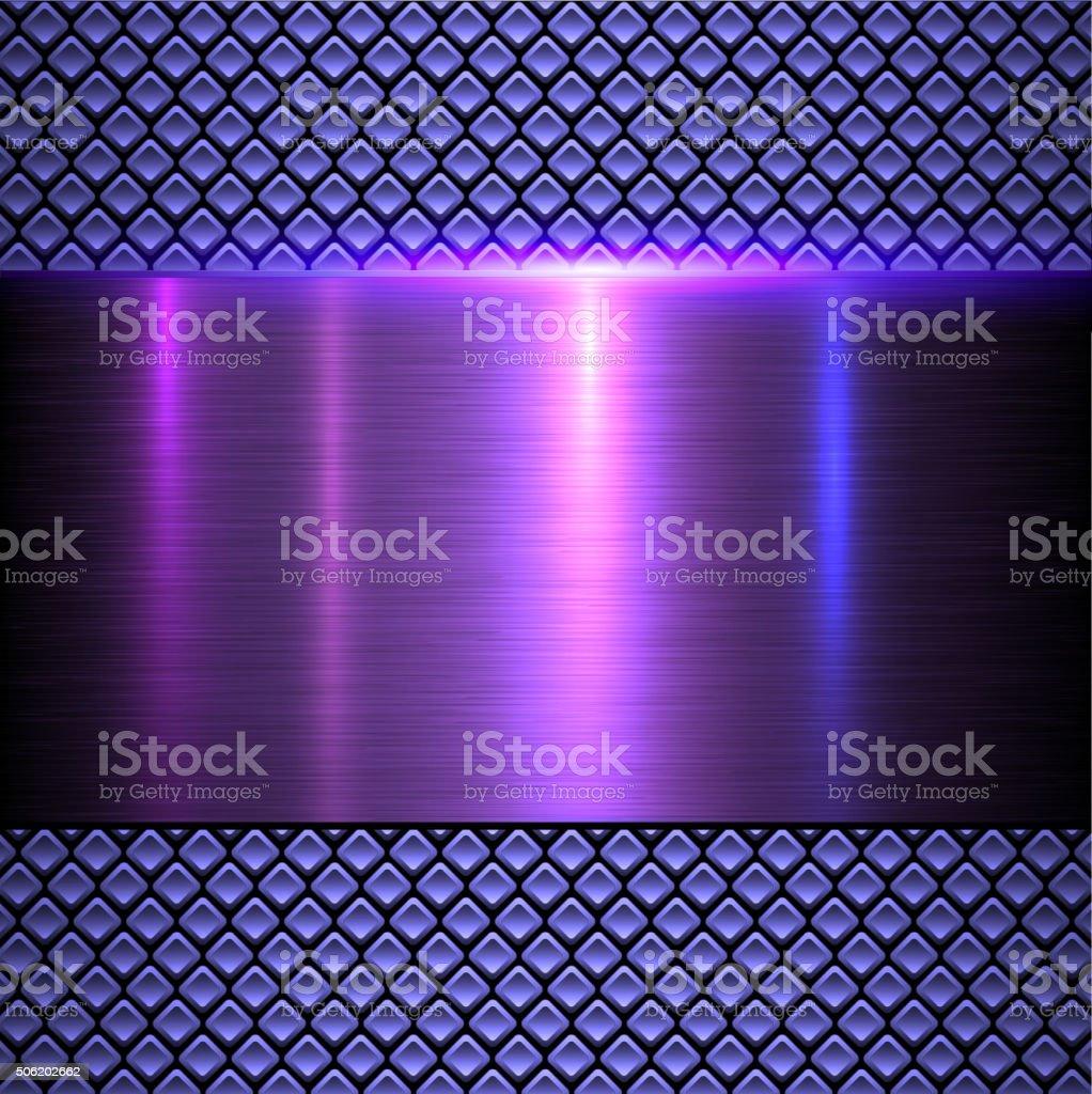 Abstract metallic background vector art illustration