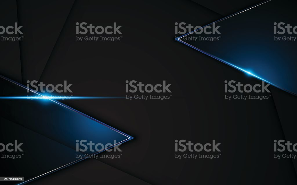 abstract metallic black blue frame sport design concept innovation background vector art illustration