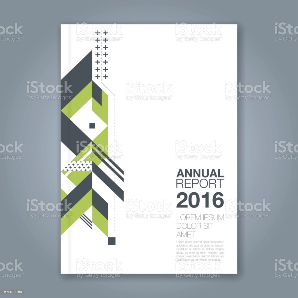 Business Book Cover Art : Abstract minimal geometric background for business annual