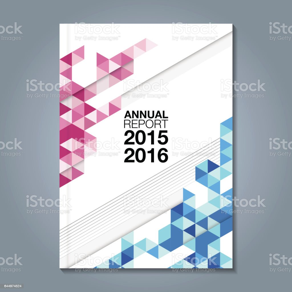 Business Book Cover Vector : Abstract minimal geometric shapes polygon design