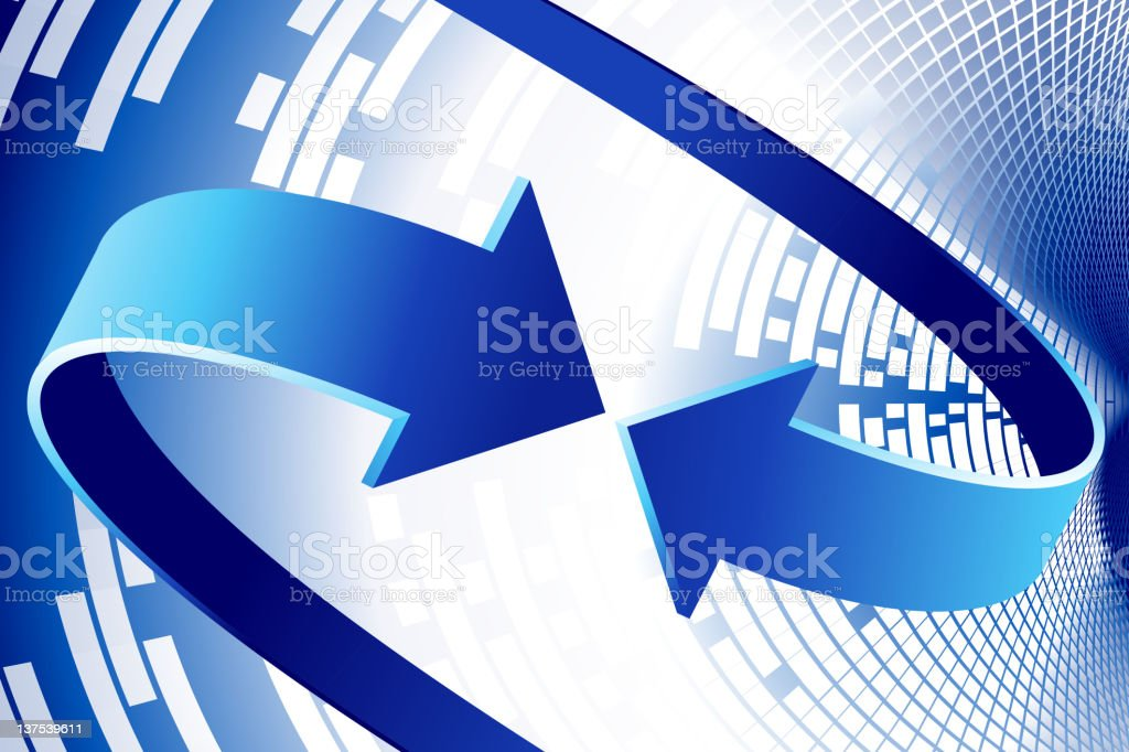 Abstract modern Background with arrows in motion vector art illustration