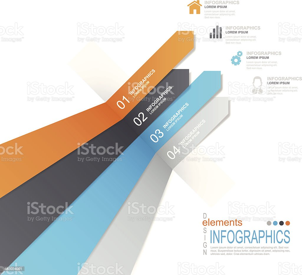 Abstract modern infographics template design royalty-free stock vector art