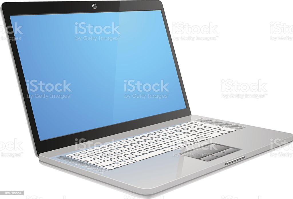 Abstract Modern Laptop (Perspective) royalty-free stock vector art