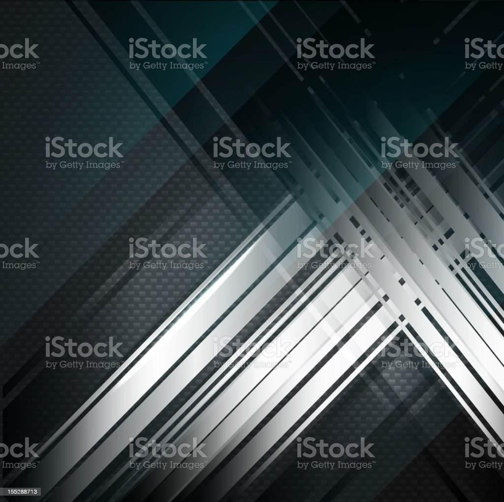Abstract modern lines on carbon background royalty-free stock vector art