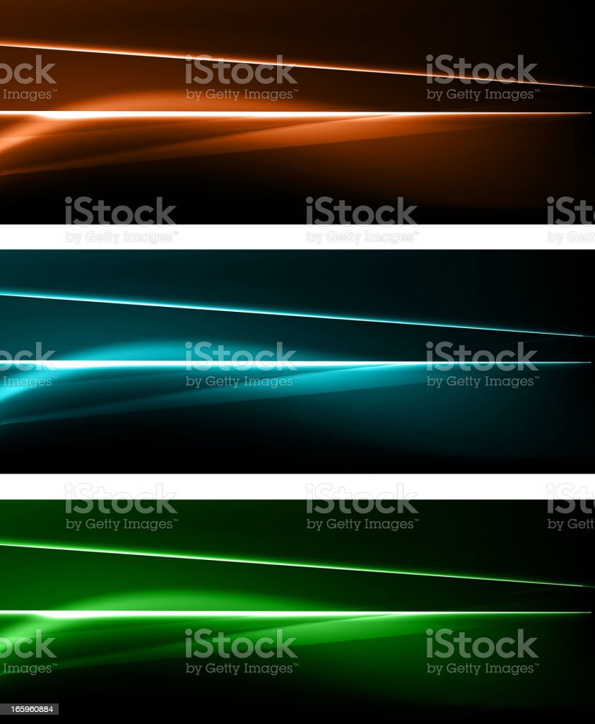 Abstract modern neon banners royalty-free stock vector art