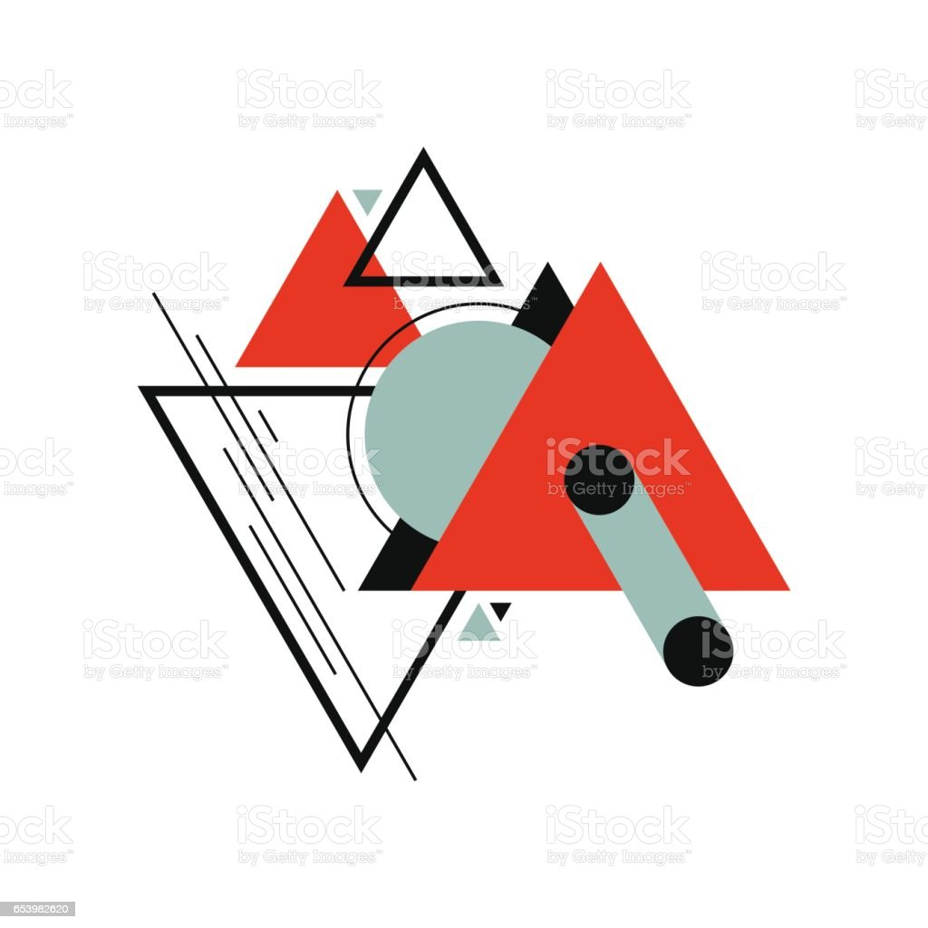 Abstract modern retro vintage geometric background vector art illustration