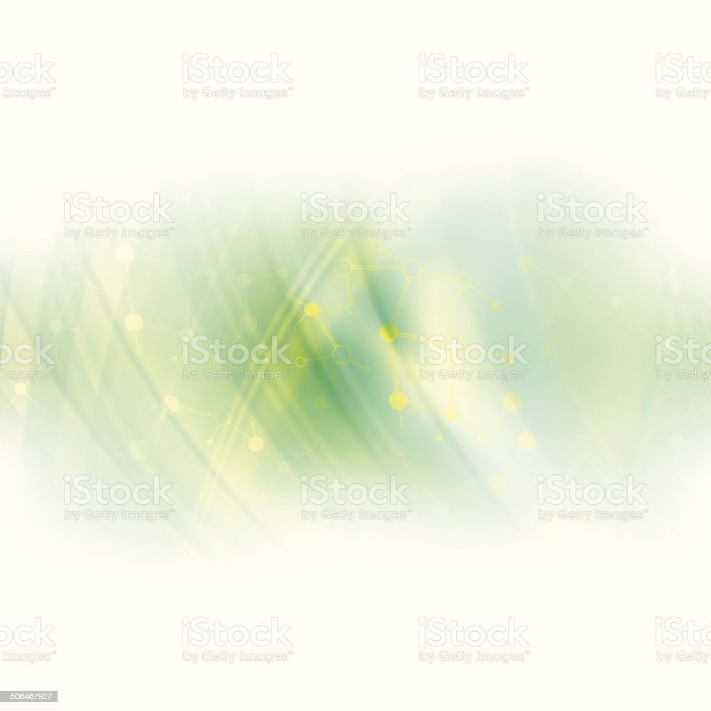 Abstract molecule green background royalty-free stock vector art