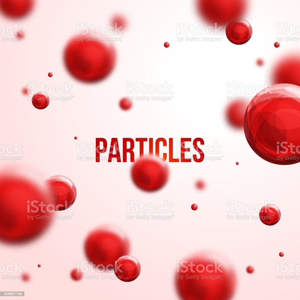 Abstract molecules design. vector art illustration