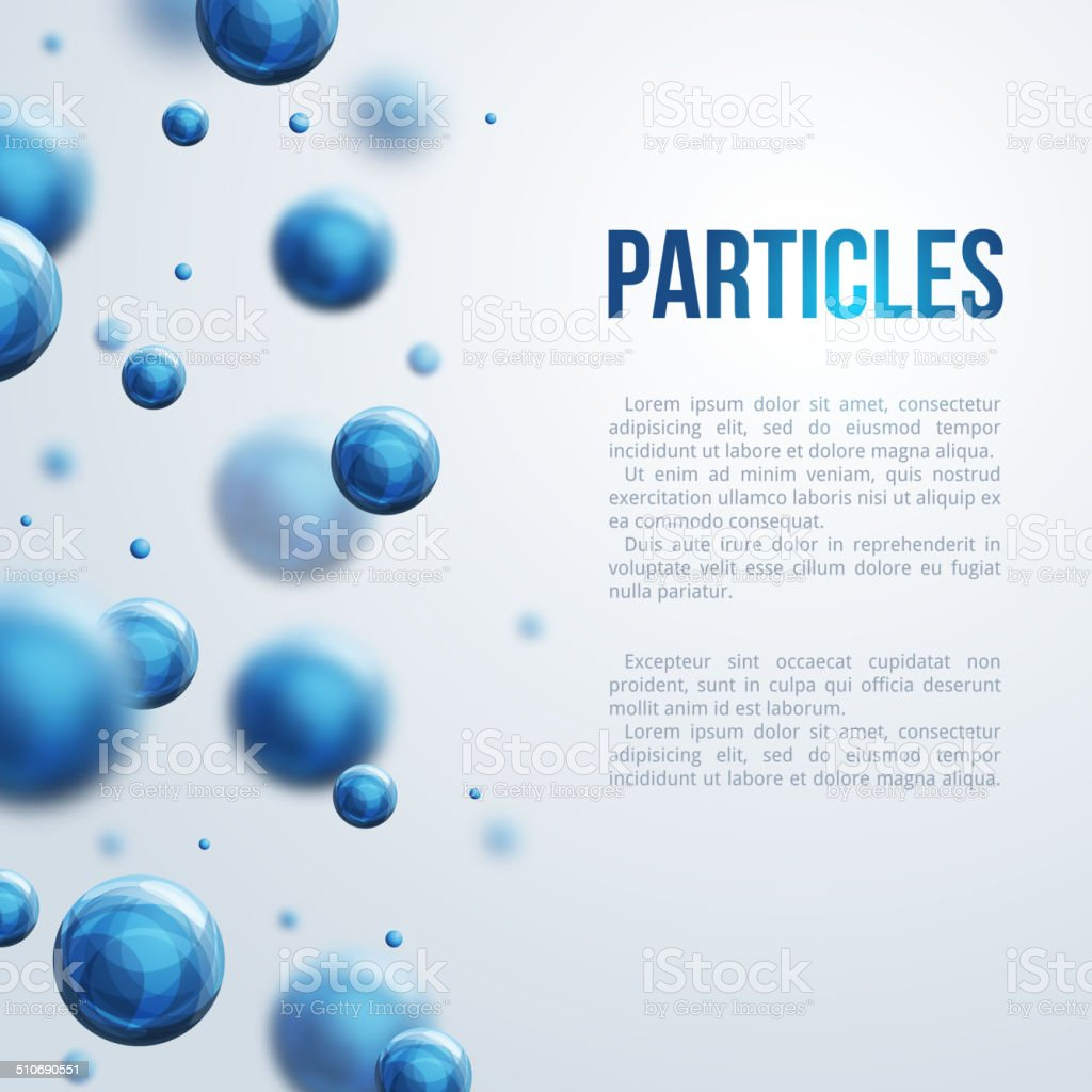 Abstract molecules design. vector art illustration