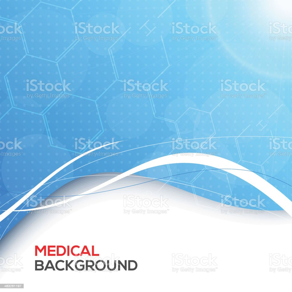 Abstract molecules medical background. vector art illustration