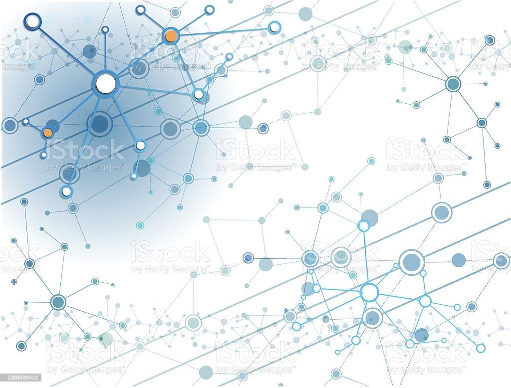 Abstract Molecules technology background. vector art illustration