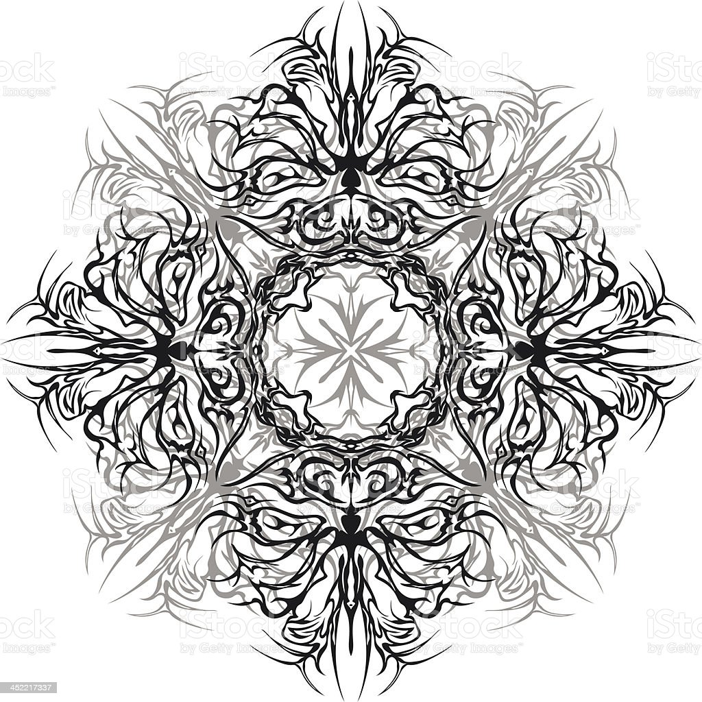 Abstract monochrome pattern royalty-free stock vector art