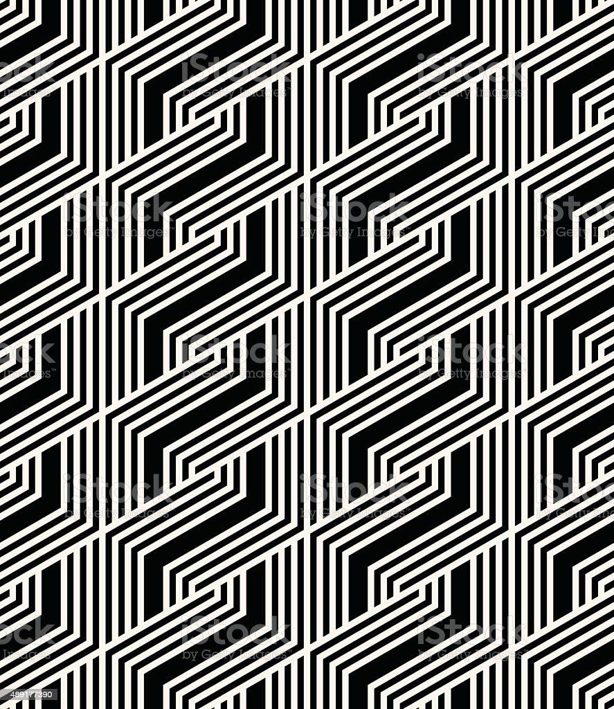 abstract monochrome striped pattern vector art illustration