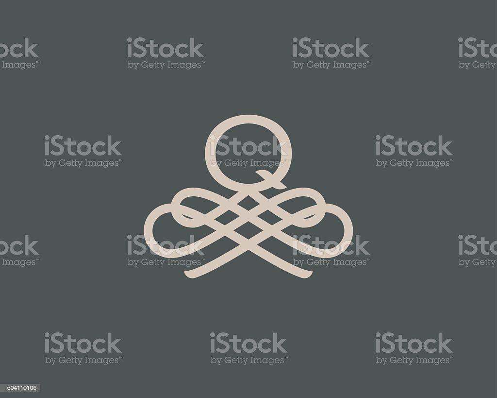 Abstract monogram elegant flower logo icon design. Universal creative premium vector art illustration