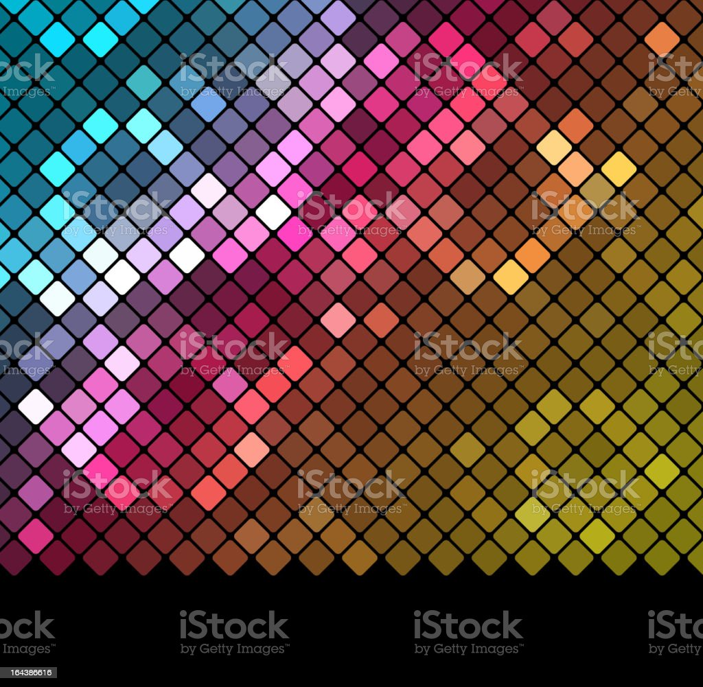 Abstract mosaic background_3 vector art illustration