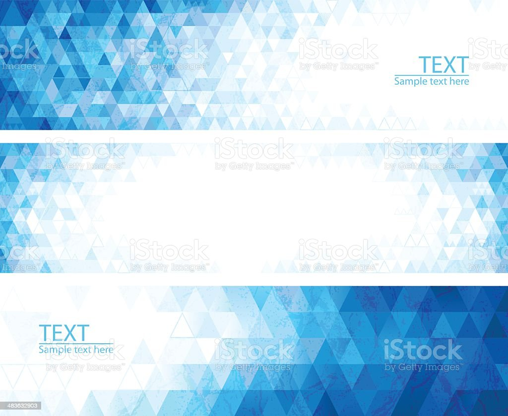 Abstract mosaic banners royalty-free stock vector art