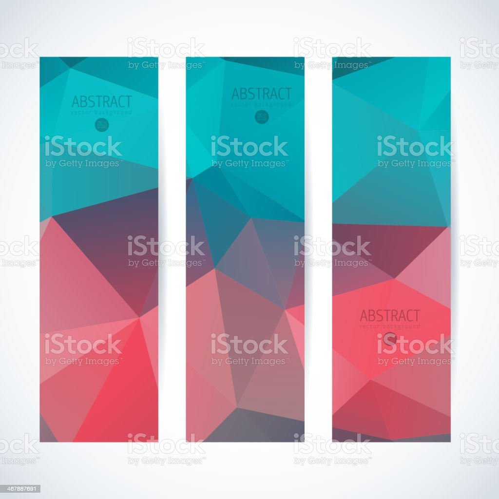 Abstract mosaic vertical banners set royalty-free stock vector art