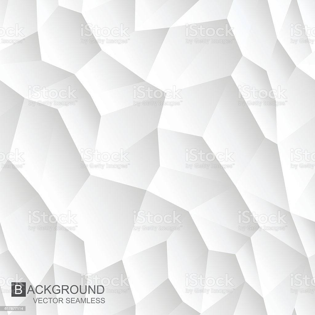 Abstract mosiac seamless texture. White geometric background. vector art illustration