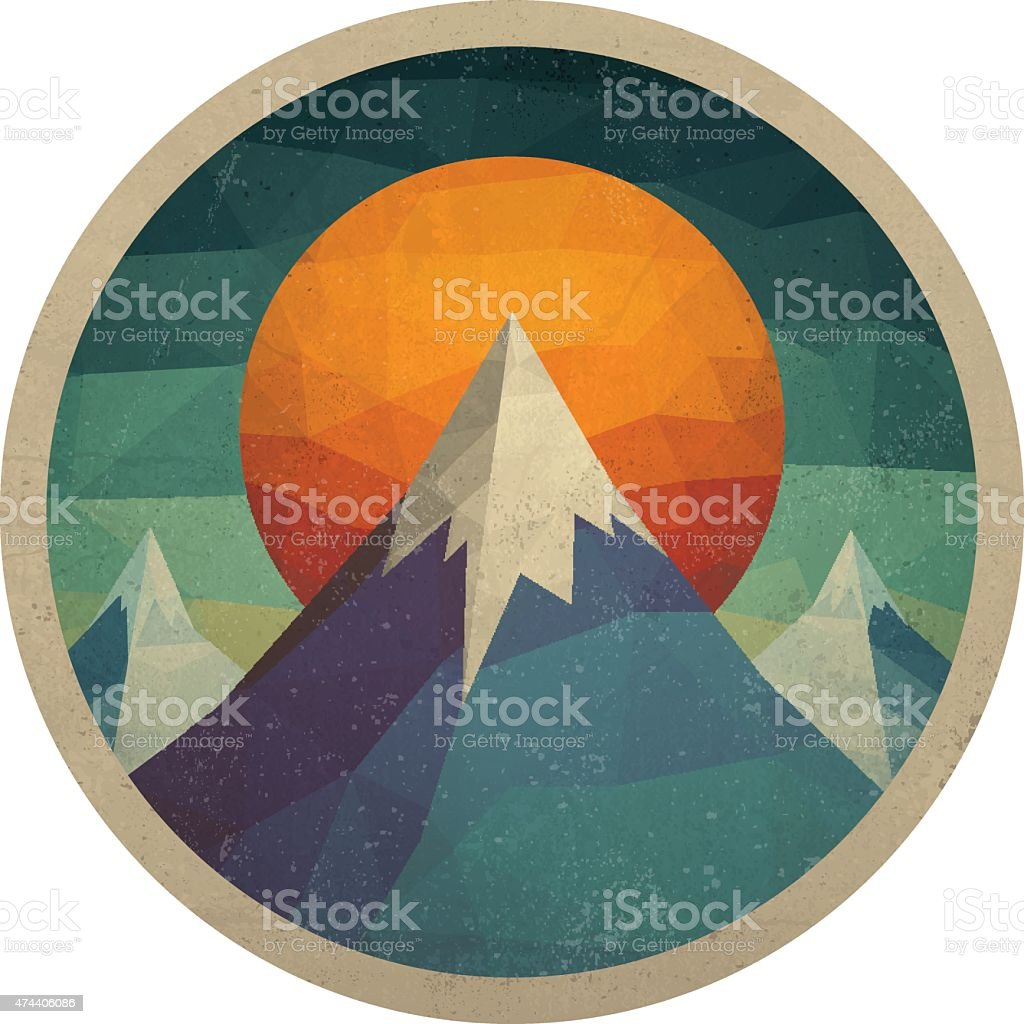 Abstract Mountain Landscape of Triangles vector art illustration
