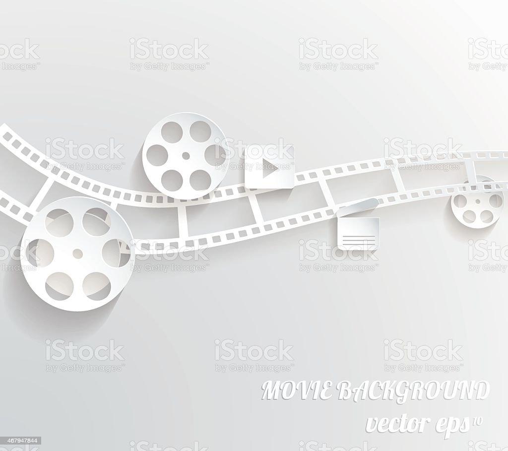 Abstract movie background vector art illustration