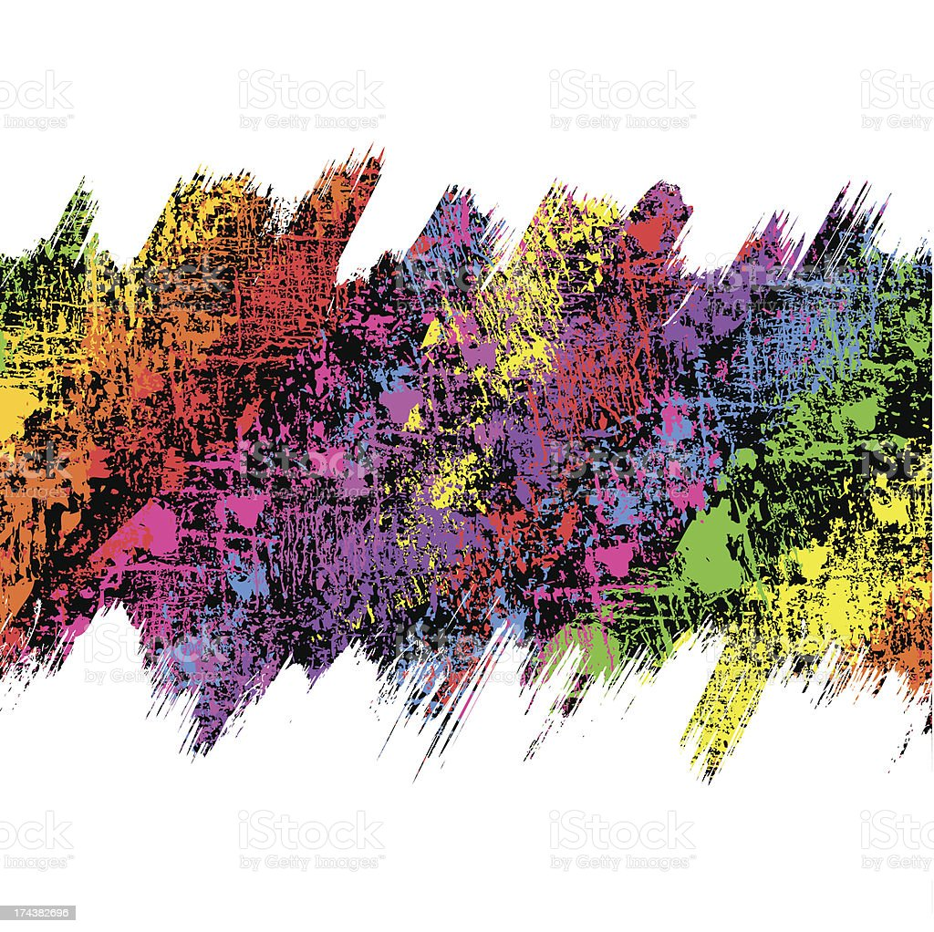 Abstract multicolored banner grunge background royalty-free stock vector art