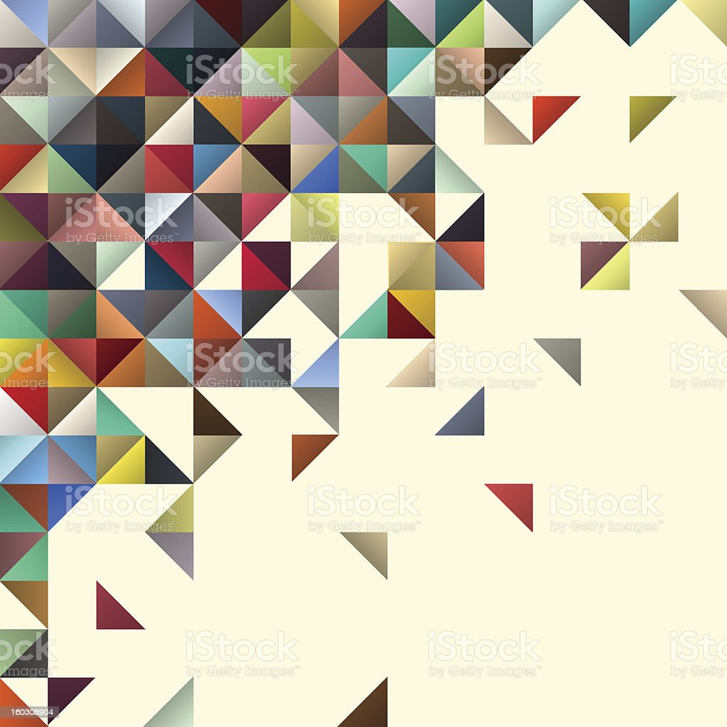 Abstract multicolored mosaic background royalty-free stock vector art