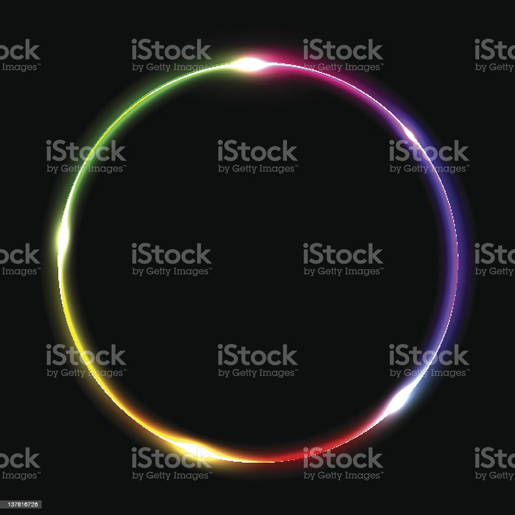 Abstract multicolored ring. Vector eps10 illustration royalty-free stock vector art