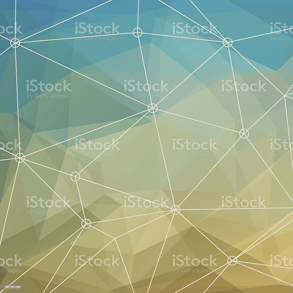 Abstract Multicolored Triangle Background royalty-free stock vector art