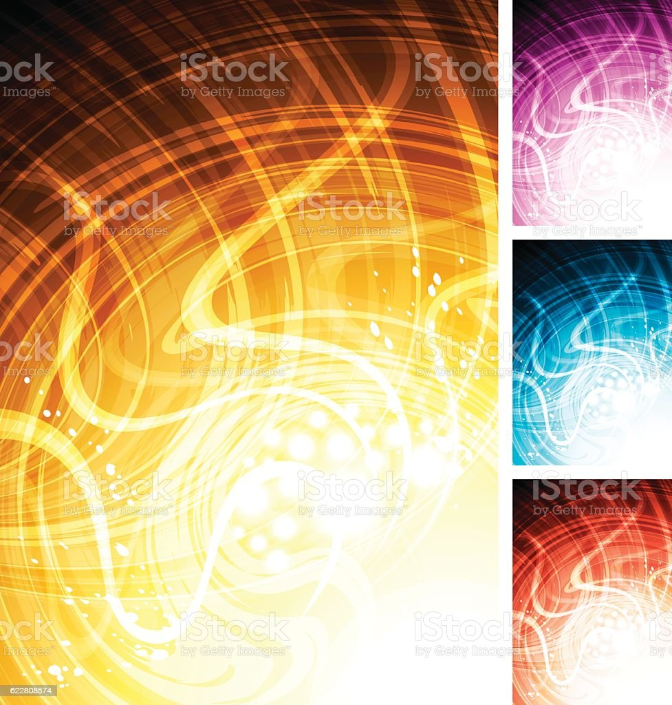 Abstract multi-coloured technology background vector art illustration