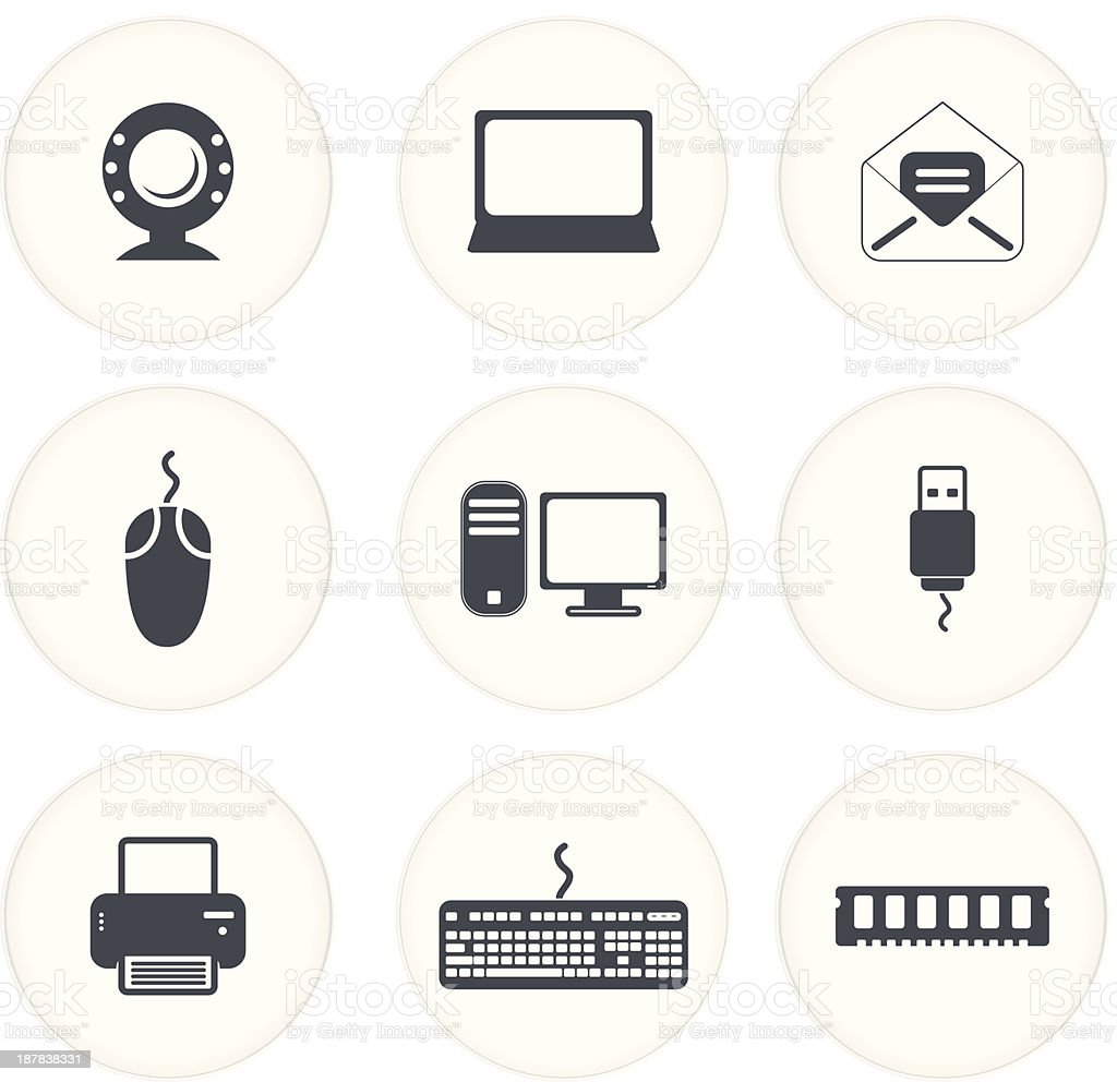abstract multiple computer icon royalty-free stock vector art