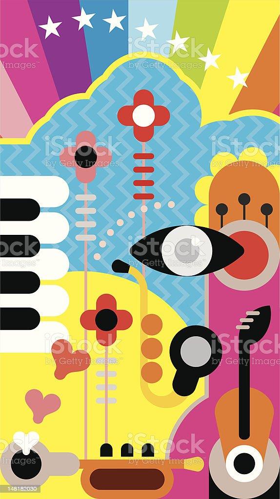 Abstract Music Art royalty-free stock vector art