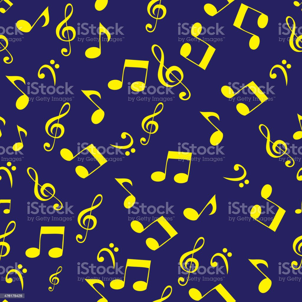 Abstract music seamless pattern background vector illustration for your design royalty-free stock vector art
