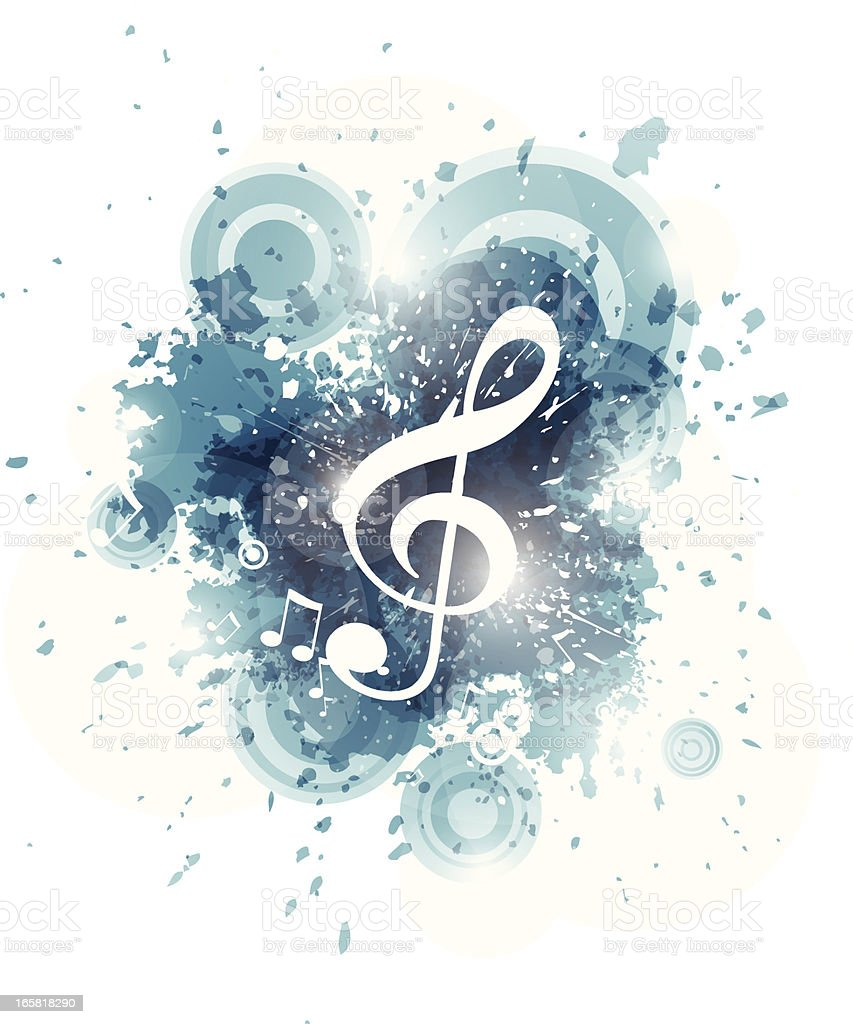 Abstract music teal background royalty-free stock vector art
