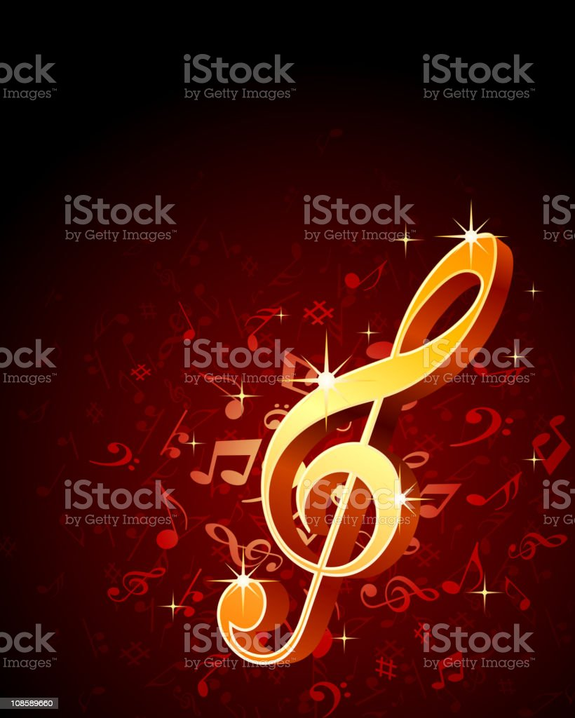 Abstract music vector background royalty-free stock vector art