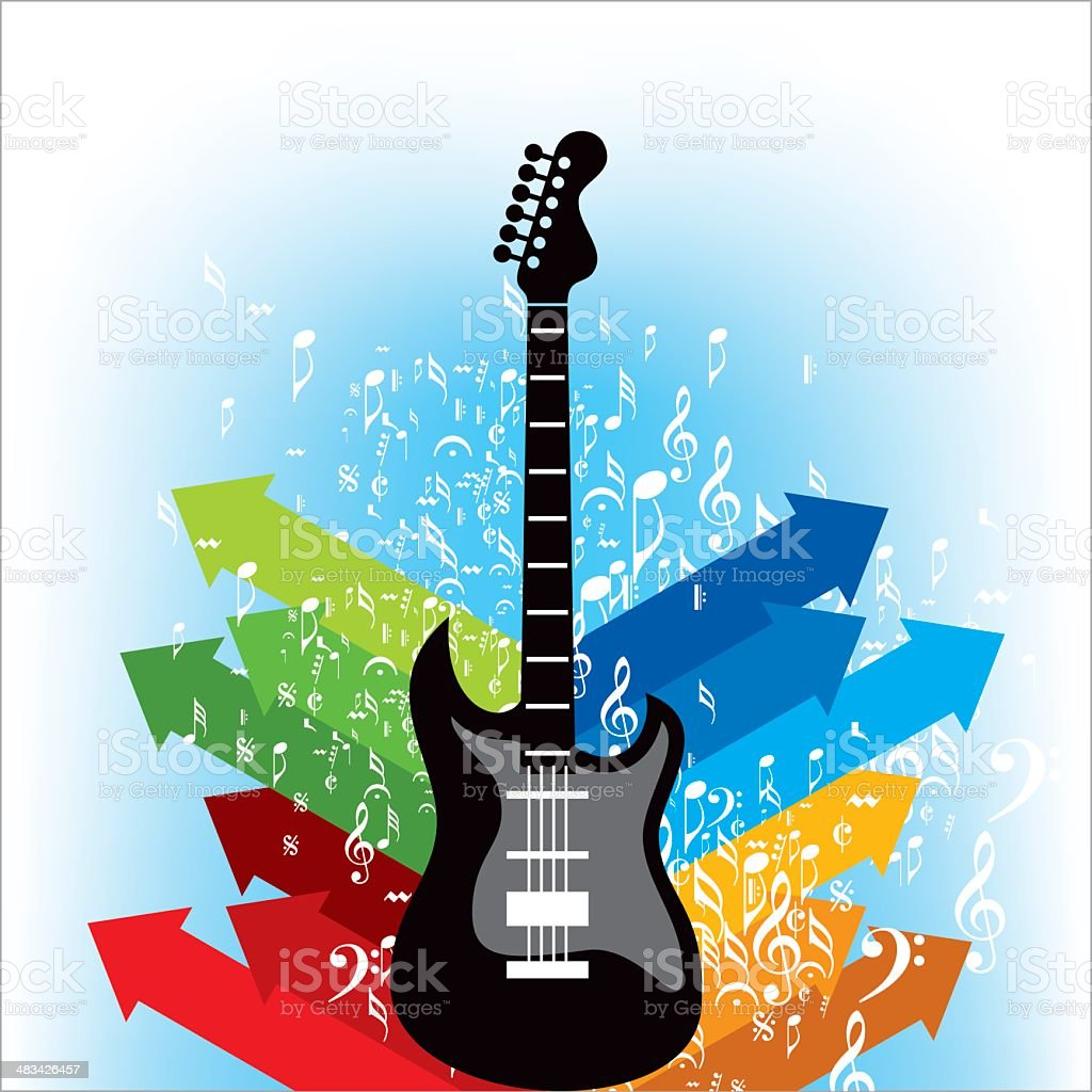 Abstract musical background royalty-free stock vector art