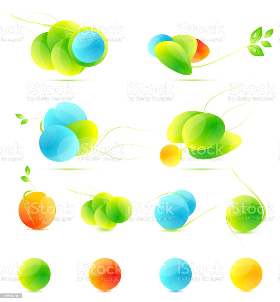 Abstract natural design elements royalty-free stock vector art