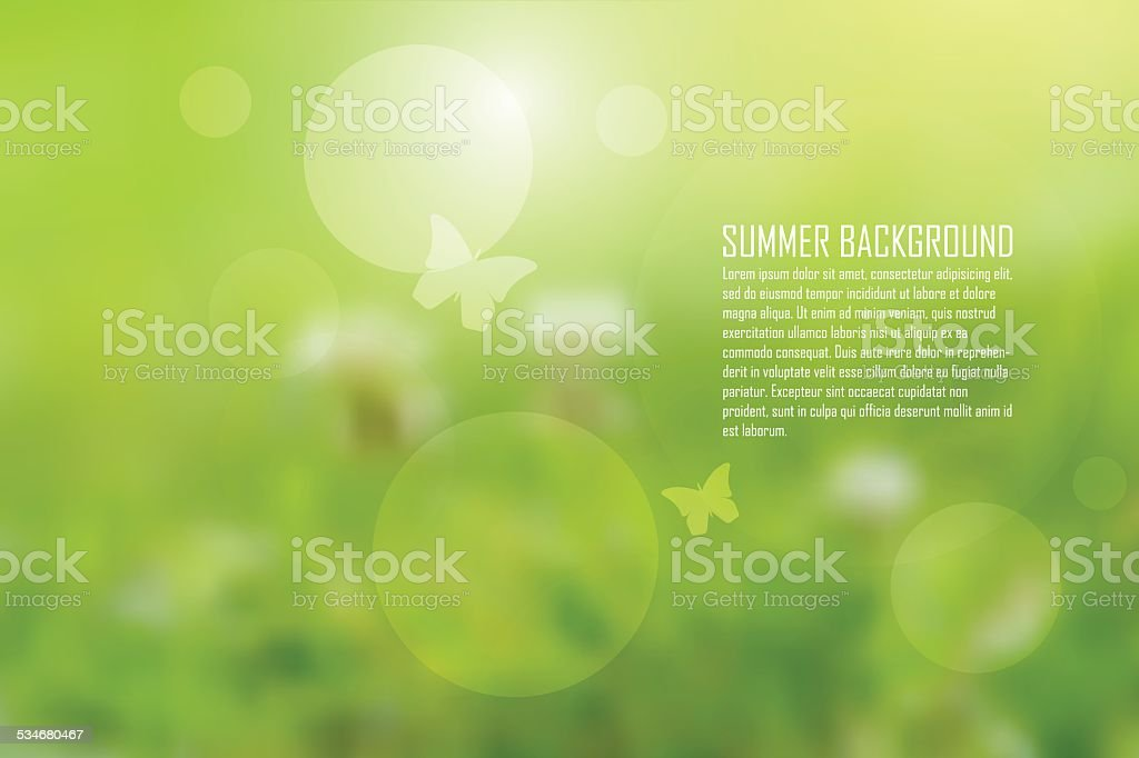 Abstract nature background vector art illustration